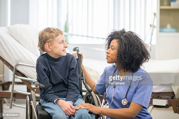 Little Boy Getting Hospital Care