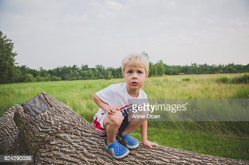 Little Boy In a Nature Area