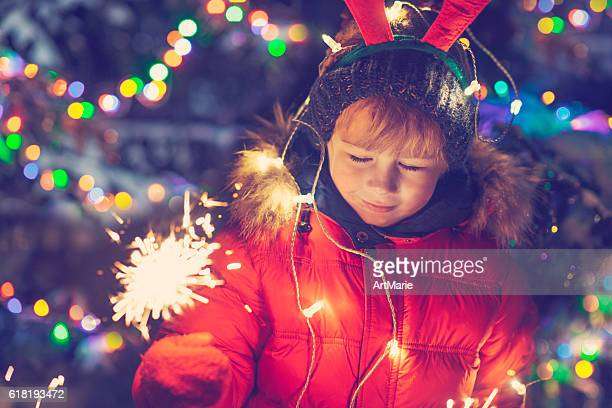 Little boy in Xmas