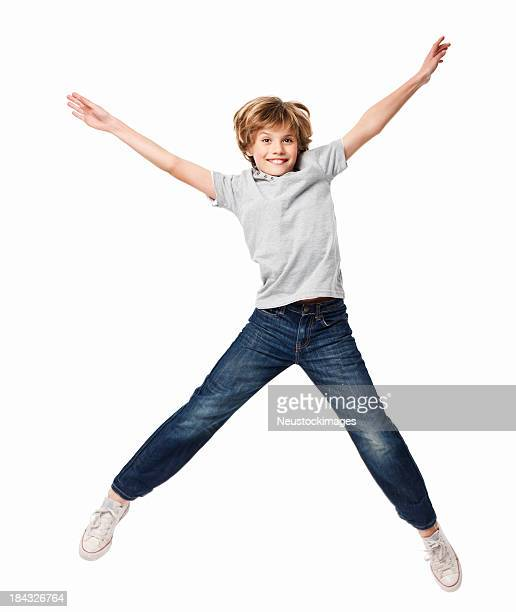 Little Boy Jumping in the Air - Isolated