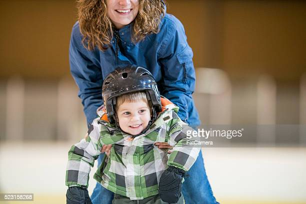 Little Boy Learning How to Skate