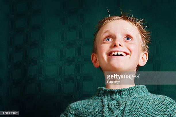 笑う少年のスタイルでお楽しみください。