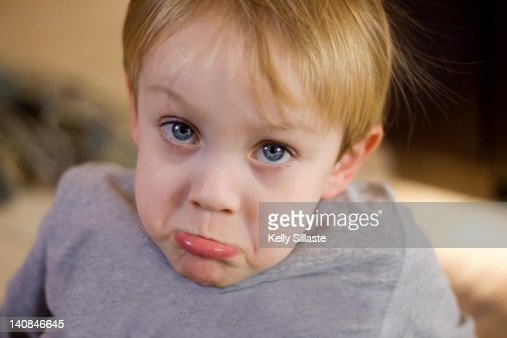 Little Boy Making Sad Face Stock Photo   Getty Images