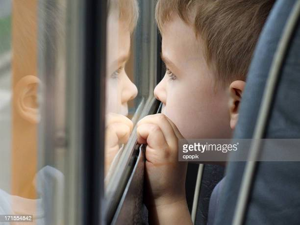 Little Boy on School Bus