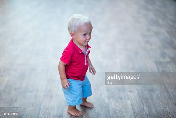 Little boy on the dancefloor