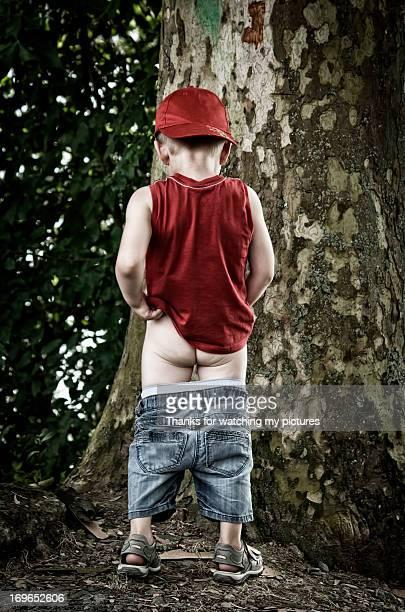 Little boy peeing
