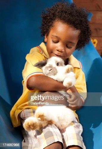 Little Boy & Pet