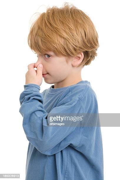 Little Boy Pinching Nose