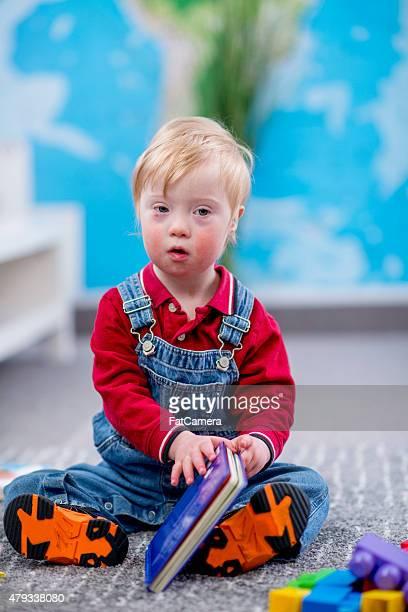 Little Boy Plaing at Daycare