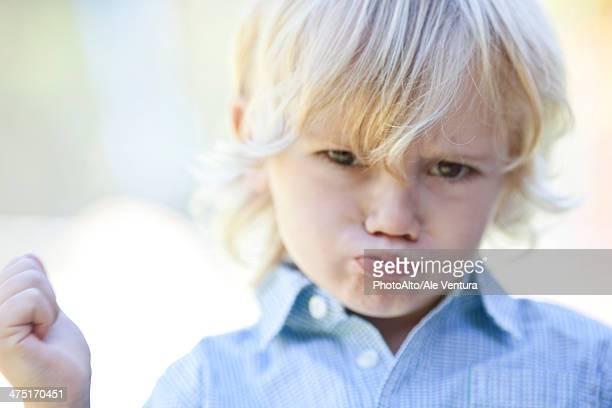 Little boy pouting