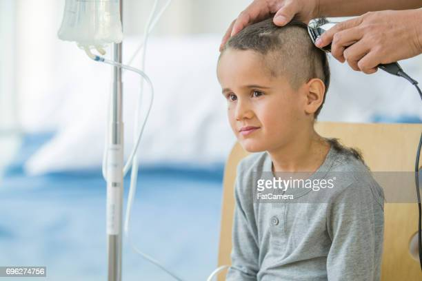 Little Boy Shaves Head for Cancer Treatment