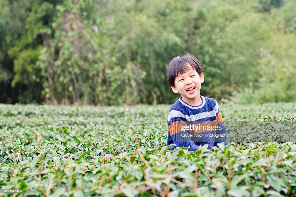 Little boy smiling and laughing