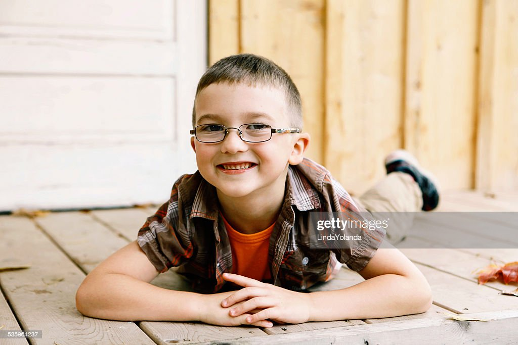 Little Boy Smiling at the Camera : Stock Photo