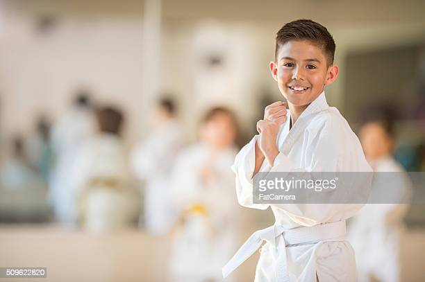 Little Boy Taking Karate