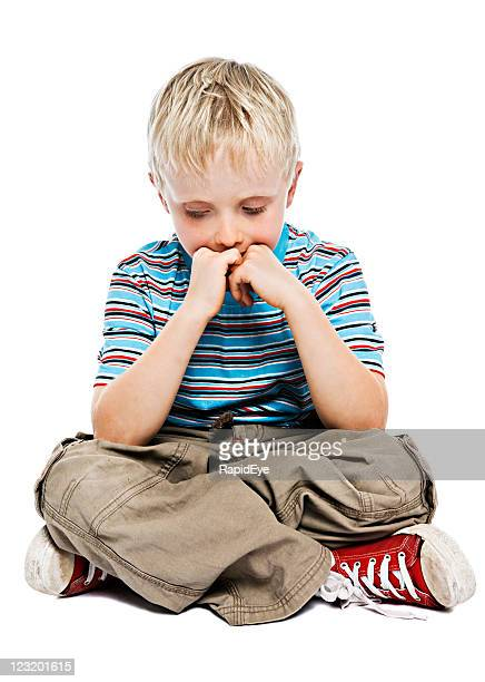 Little boy thinking | Depressed child