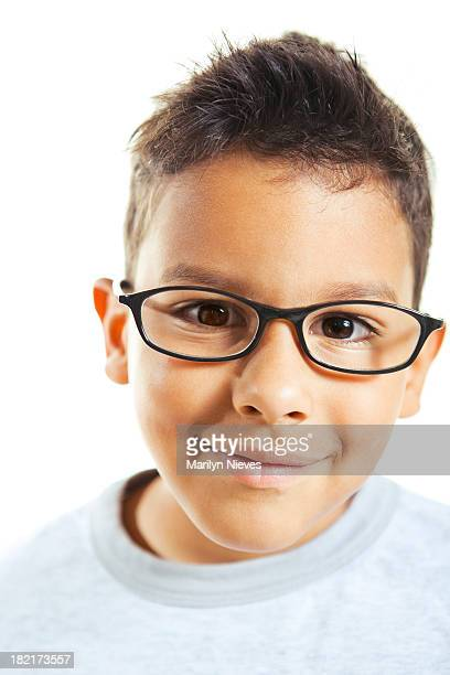 little boy wearing eyeglasses