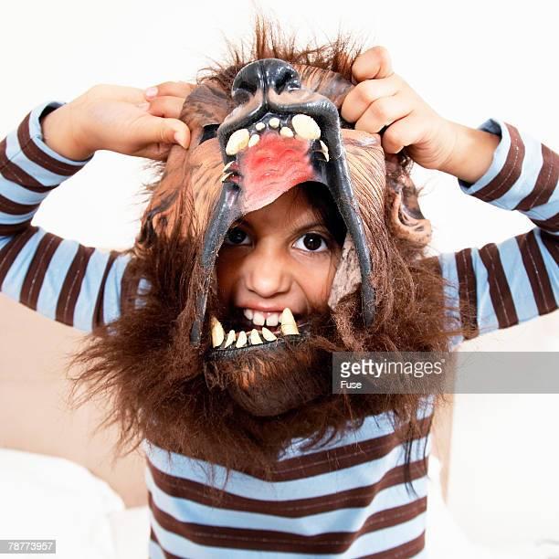 Little Boy Wearing Mask