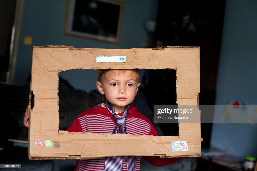 Little boy wearing tie : Stock Photo