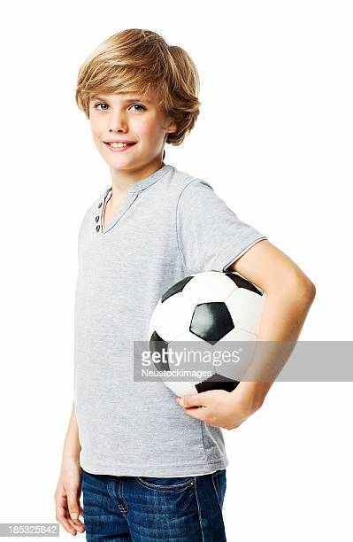Little Boy With a Soccer Ball - Isolated