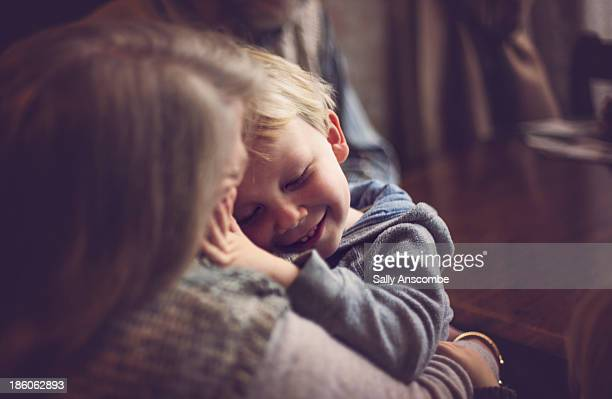 Little boy with his grandma