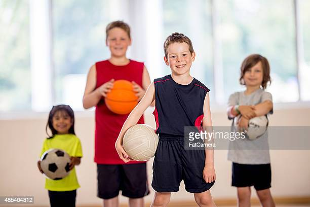 Little Boy with Volleyball