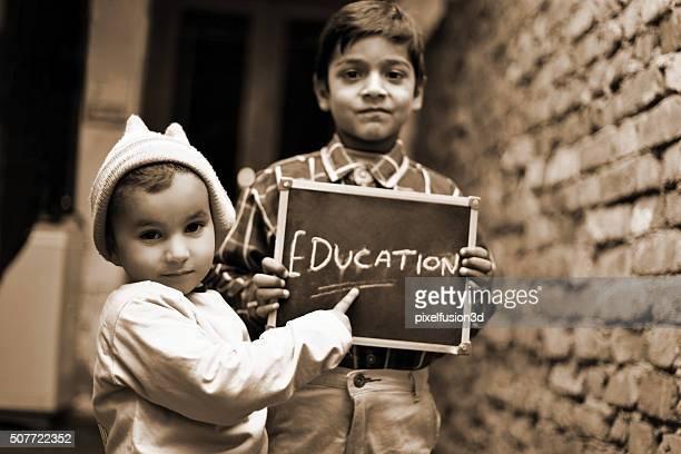 Little Boys Portrait with Chalkboard