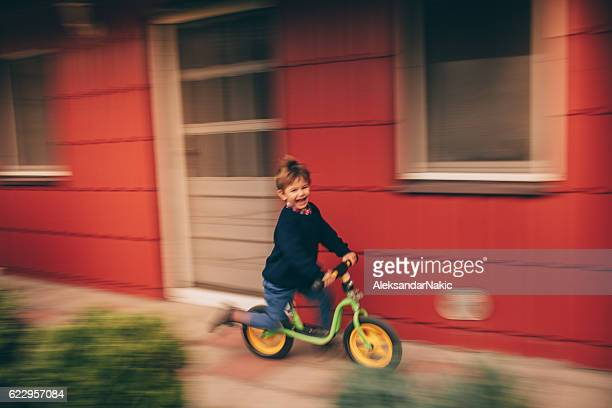 Little boy's riding a bike