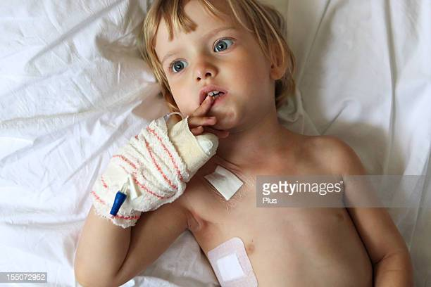 Little child in hospital