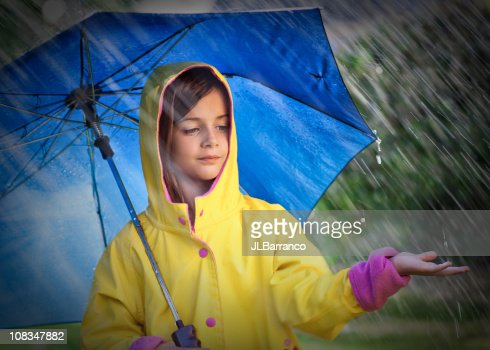 Sad Girl And A Rain Drops Stock Photos and Pictures ...