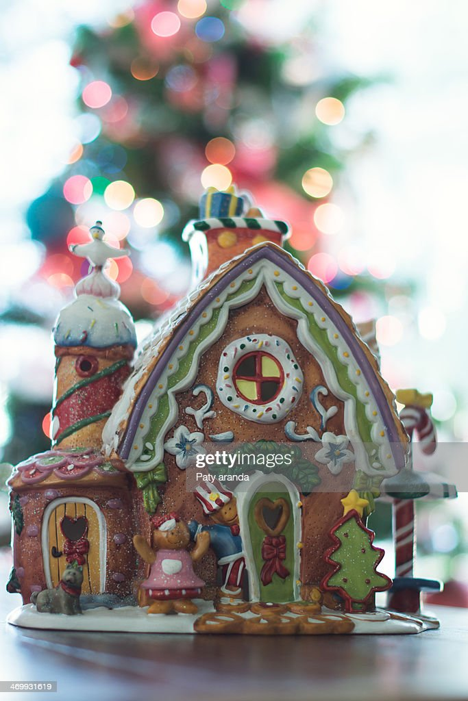 Little Christmas gingerbread house : Stock Photo