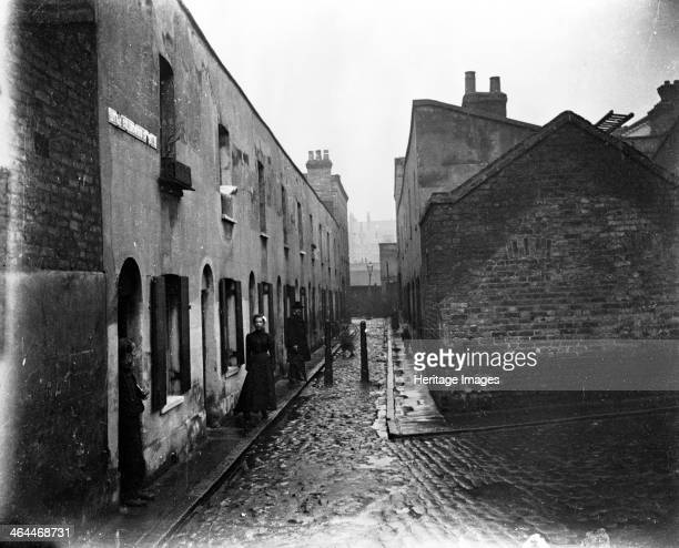 Little Collingwood Street Bethnal Green London c1900 A run down back street in the East End of London on a wet day Galt came to London in 1890 to...
