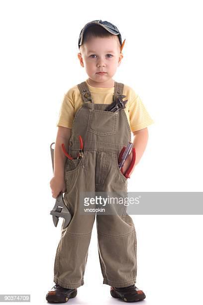 Little construction kid