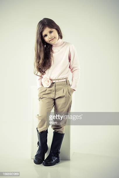 Little cute girl posing
