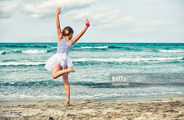 Little dancer on the beach