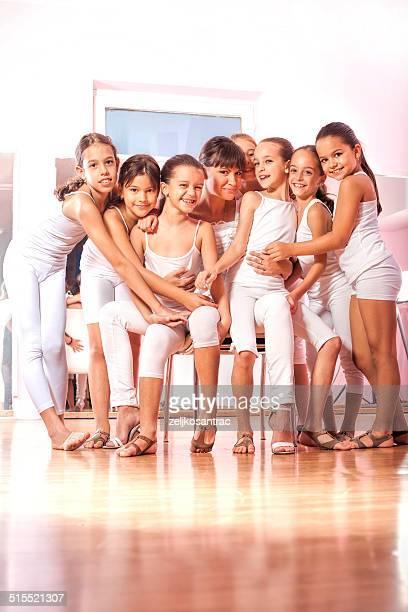 Little dancers with teacher