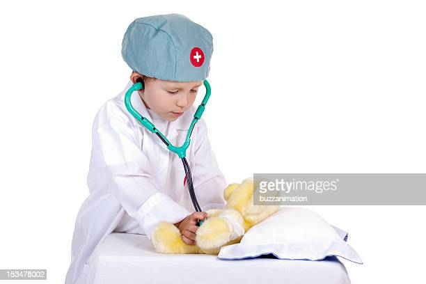 Little doctor make a medical exam