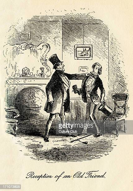 Little Dorrit Little Dorrit by Charles Dickens Illustrated by Hablot Knight Browne Caption reads 'Reception of an old friend ' CD English novelist 7...