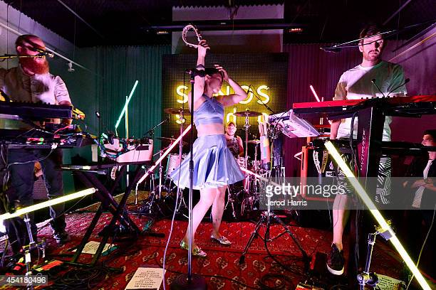 Little Dragon performs at KCRW's taping of Morning Becomes Eclectic with Little Dragon at Sonos Studio on August 25 2014 in Los Angeles California