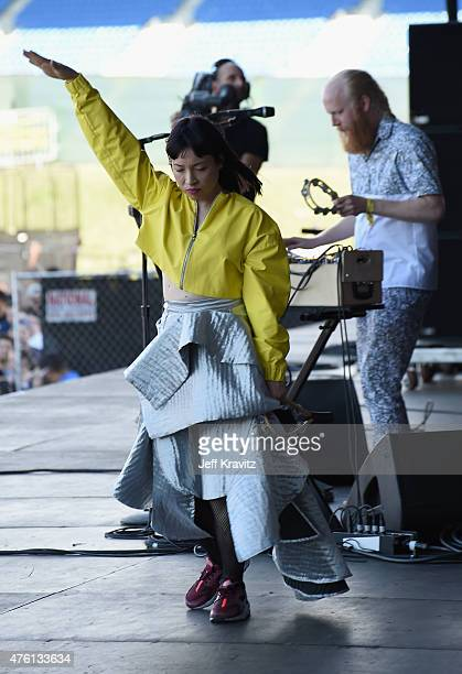 Little Dragon performs onstage during 2015 Governors Ball Music Festival at Randall's Island on June 6 2015 in New York City