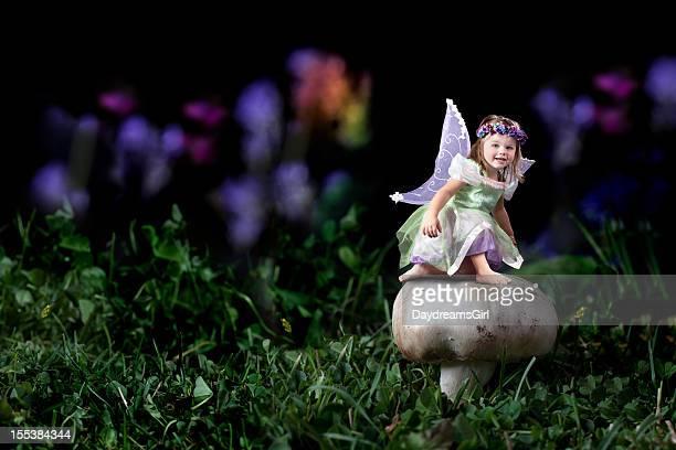 Little Fairy on Mushroom