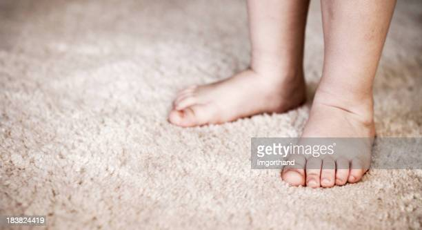 Little feet on carpet