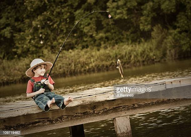 Little Fisher Catches a 'BIG' Fish