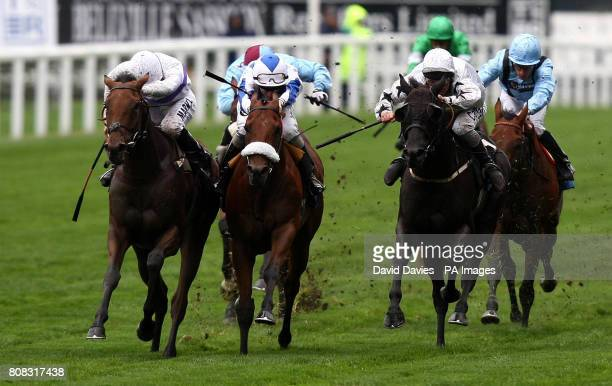 Little Garcon ridden by William Buick on their way to victory in the DJP International Handicap Stakes during the Transformers Rectifiers Day at...