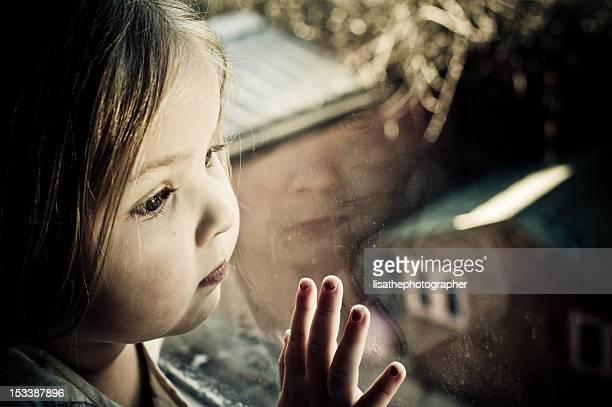 Little girl all alone