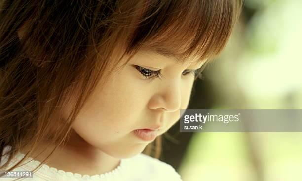 Little girl and gentle gaze