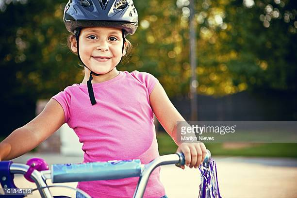 little girl and her bike