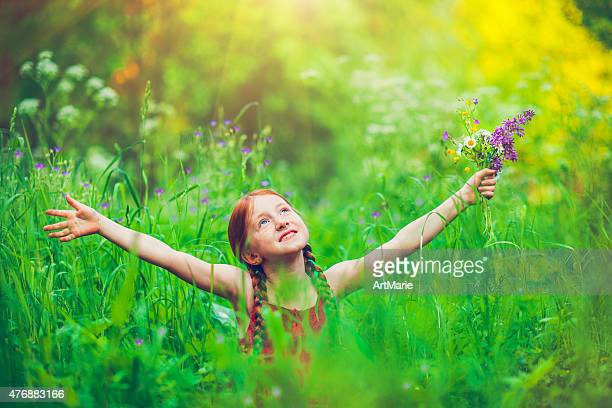 Little girl and nature