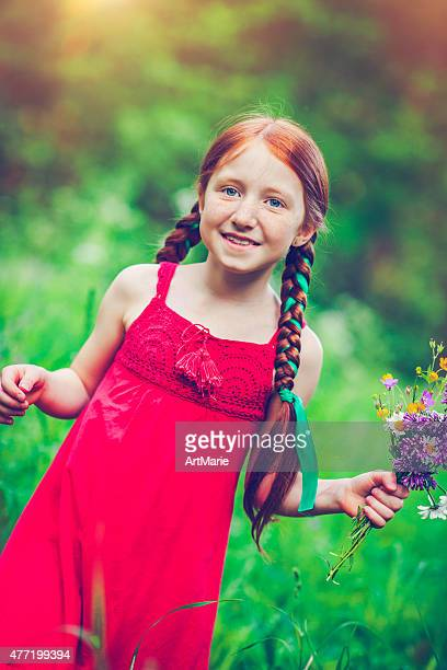 Little girl e natura