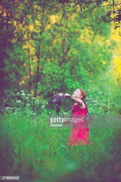 少女と自然