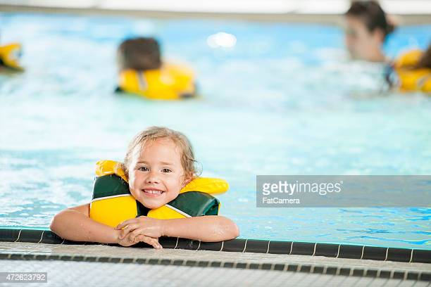 Little Girl at a Swimming Lesson